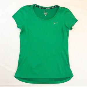 Nike Dri Fit running shirt, emerald green, EUC, S